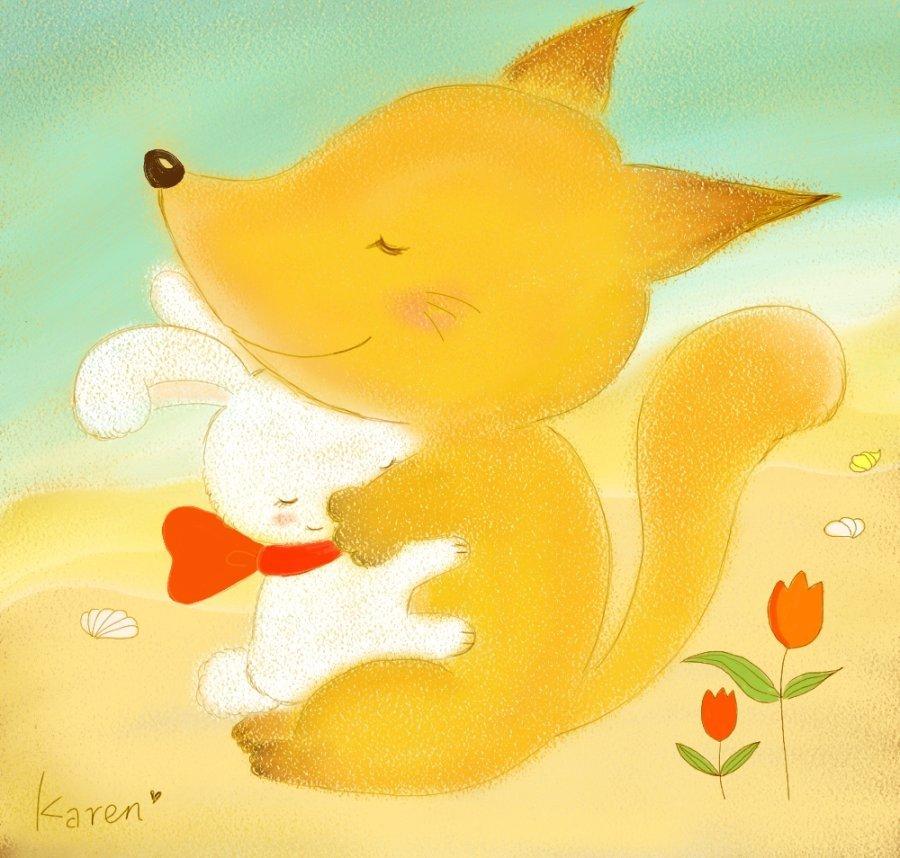 小狐狸,如果我和你妈妈同时掉进水里面了,你会先救谁呢?小兔子问小狐狸。当然是先救你啊。小狐狸想都没想就回答。小兔子心里很开心,但表面还是假装生气地问道:为什么要先救我呢?那你妈妈该怎么办啊?我妈妈才不会和我计较这种傻问题呢。小狐狸在心里想道。    8.   被小兔子问了那个你会先救谁的问题之后,小狐狸当时虽然不在意,可后来还是去了游泳学校一边学习游泳一边在心里思索着这个问题。在被水呛到了好几次之后小狐狸慢慢学会了游泳,可那个问题依旧没有答案。于是有天小狐狸就不再去学游泳了,还是不会